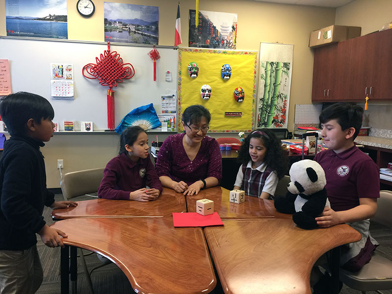 Image for: February Dual Language Teacher of the Month Yunchi He, Texas Garland Elementary School!