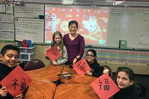 February Dual Language Teacher of the Month Yunchi He, Texas Garland Elementary School!