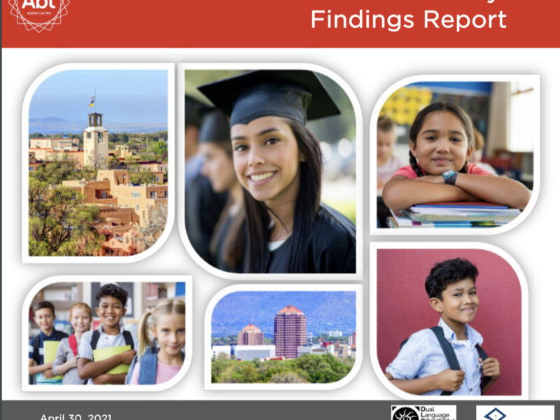 Promising Trends for Dual Language Education: New Mexico Charter School Study